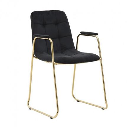 Βελούδινη Καρέκλα Inart 3-50-224-0008