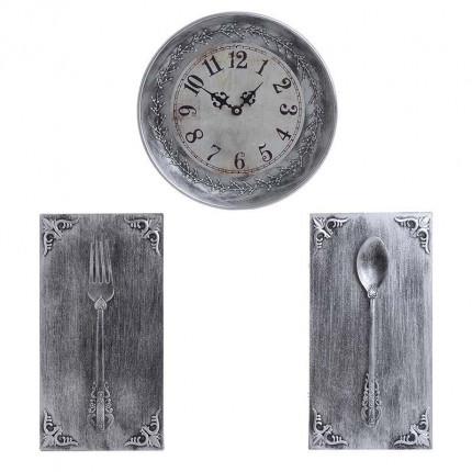 Ρολόι/Διακοσμητικό Τοίχου Σετ Των 3