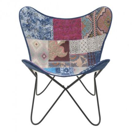 Μεταλλική/Υφασμάτινη Καρέκλα Inart 7-50-122-0023