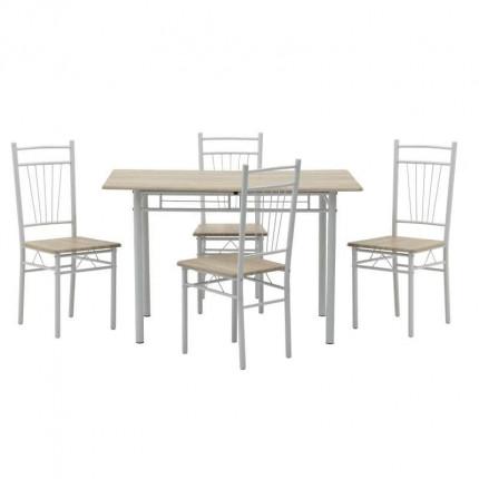 Σετ Τραπεζαρία Με 4 Καρέκλες