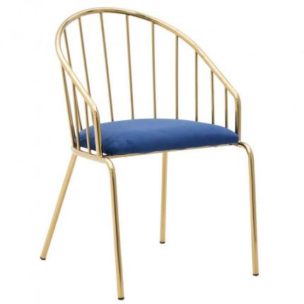 Βελούδινη Καρέκλα Inart 3-50-529-0002