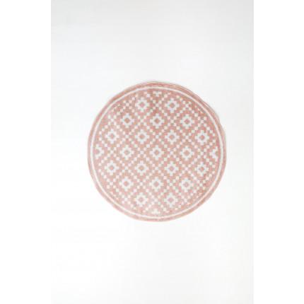 Χαλί Σαλονιού Φ120 Ezzo All Season Chroma B528Aj8 Pink & Cream