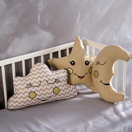 Διακοσμητικά Μαξιλάρια (Σετ 3 Τμχ) Sb Home Baby Deco Pillows Beige