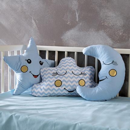 Διακοσμητικά Μαξιλάρια (Σετ 3 Τμχ) Sb Home Baby Deco Pillows Blue