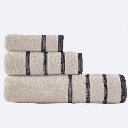 Πετσέτες Μπάνιου (Σετ 3 Τμχ) Madison Nef Nef Beige/Black