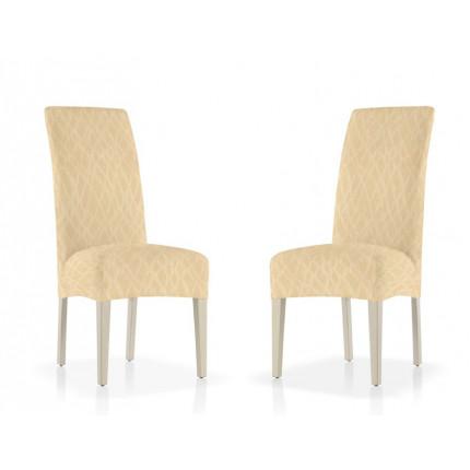 Σετ (2 Τμχ) Ελαστικά Καλύμματα Καρέκλας Με Πλάτη Karen