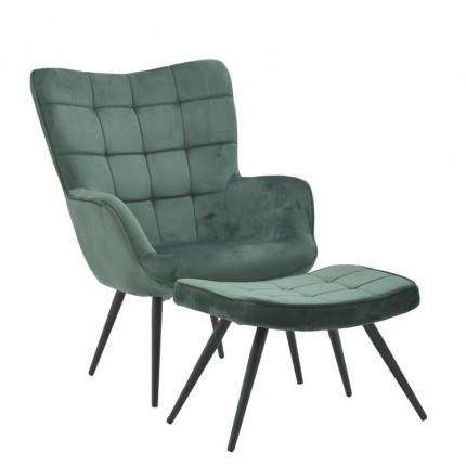 Σετ Πολυθρόνα Και Υποπόδιο Inart 3-50-064-0024