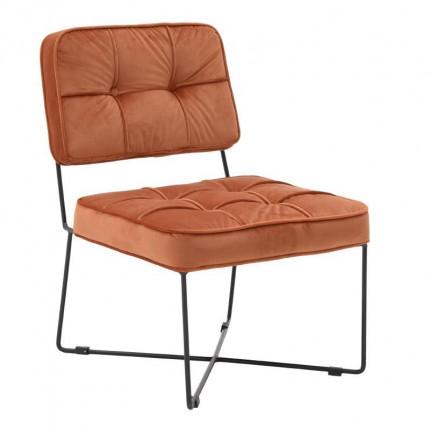 Μεταλλική/Βελούδινη Καρέκλα
