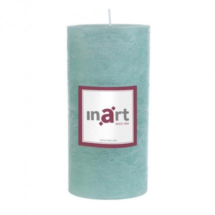 Κερί Παραφίνης Άρωμα Βανίλια Γαλάζιο 7x15 cm