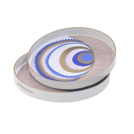Δίσκος Σετ Των 2 Inart 3-70-973-0017