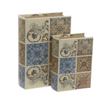 Κουτί/Βιβλίο Σετ Των 2 Inart 3-70-106-0021