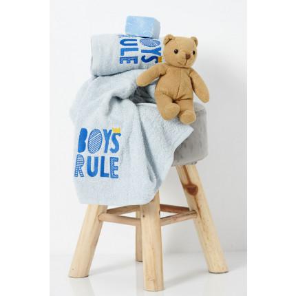 Παιδικές Πετσέτες (Σετ 2 Τμχ) Palamaiki Kids Bath Boys Rule