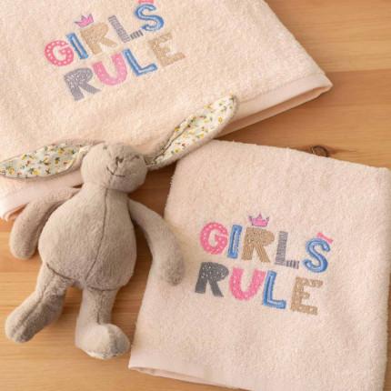 Παιδικές Πετσέτες (Σετ 2 Τμχ) Palamaiki Kids Bath Girls Rule