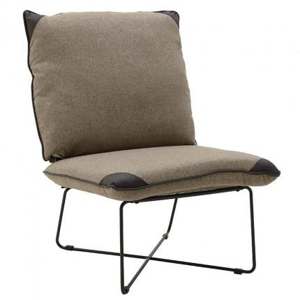Υφασμάτινη/PU Καρέκλα Inart 3-50-884-0005