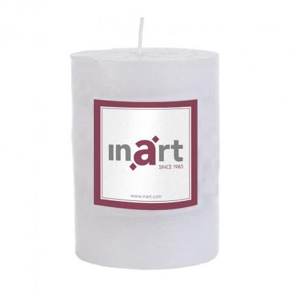 Κερί Παραφίνης Άρωμα Βανίλια Λευκό 7X10 cm