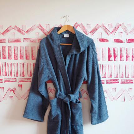 Μπουρνούζι Με Κουκούλα Melinen Liberty Blue