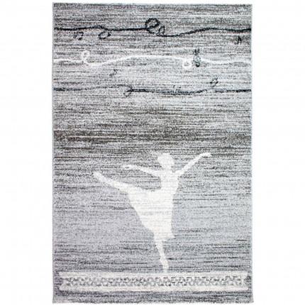 Παιδικό Χαλί 80X150 Ezzo All Season Junior Ballerina 8605 Light Grey