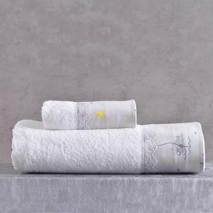 Παιδικές Πετσέτες (Σετ 2 Τμχ) Rythmos Fouska Γκρι