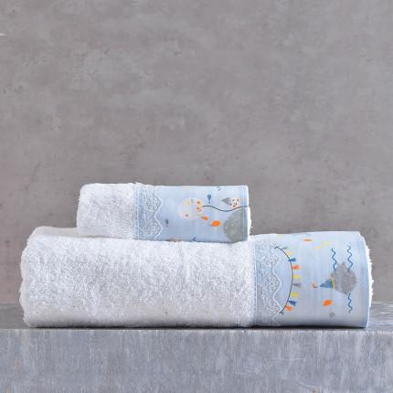Παιδικές Πετσέτες (Σετ 2 Τμχ) Rythmos Fouska Μπλε