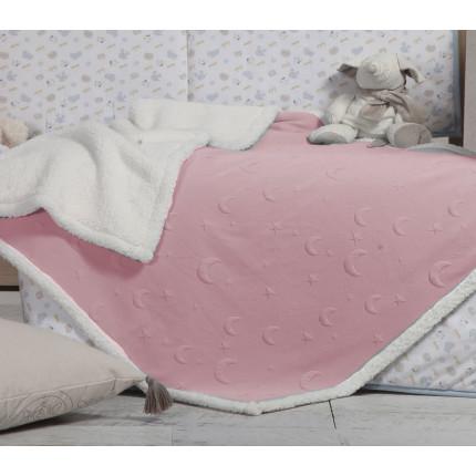Κουβερτοπάπλωμα Κούνιας 110x140 Nef Nef Sky Above Pink