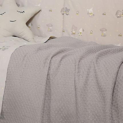 Κουβέρτα Πλεκτή Κούνιας 110x150 Nef Nef Smooth Grey