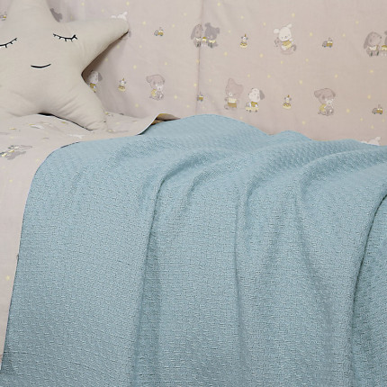 Κουβέρτα Πλεκτή Λίκνου 80x110 Nef Nef Smooth Blue