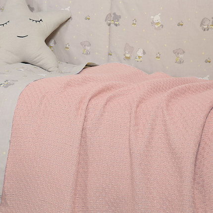 Κουβέρτα Πλεκτή Λίκνου 80x110 Nef Nef Smooth Pink