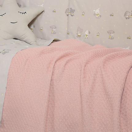 Κουβέρτα Πλεκτή Κούνιας 110x150 Nef Nef Smooth Pink