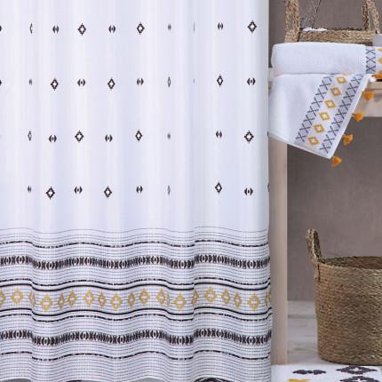 Κουρτίνα Μπάνιου 180x180 Nef Nef Perez White