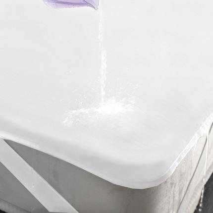 Αδιάβροχο Επιστρώμα Μονό 100X200 Rythmos Λευκο Με Λάστιχο
