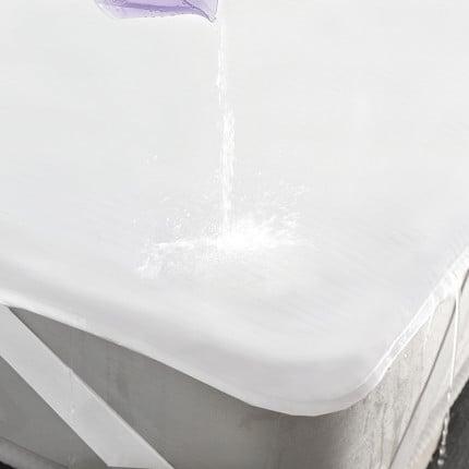 Αδιάβροχο Επιστρώμα Υπέρδιπλο 160X200 Rythmos Λευκο Με Λάστιχο