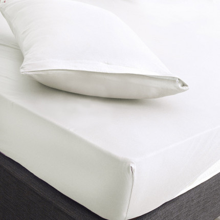 Επίστρωμα + Μαξιλαροθήκες Υπέρδιπλο 160X200+20 Rythmos Essential 01 Λευκο Με Λάστιχο