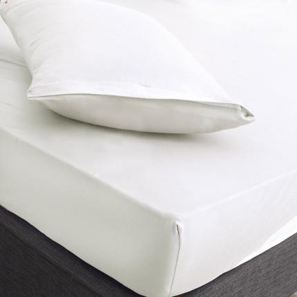 Επίστρωμα + Μαξιλαροθήκες King Size 180X200+25 Rythmos Essential 01 Λευκο Με Λάστιχο