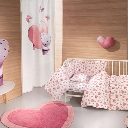 Σεντόνια Κούνιας (Σετ) 115x170 Guy Laroche Sweet Heart Χωρίς Λάστιχο