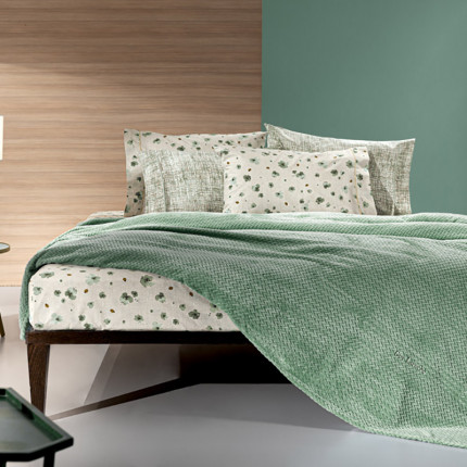 Κουβέρτα Fleece Υπέρδιπλη 220x240 Guy Laroche Rombus Olive