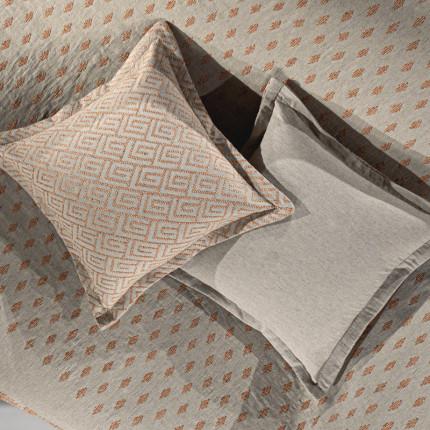 Διακοσμητική Μαξιλαροθήκη 50x50 Guy Laroche Bali Coral-Grey