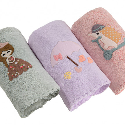 Βρεφικές Πετσέτες 35x50 (Σετ 3 Τμχ) 35x50 Guy Laroche Happy Girl