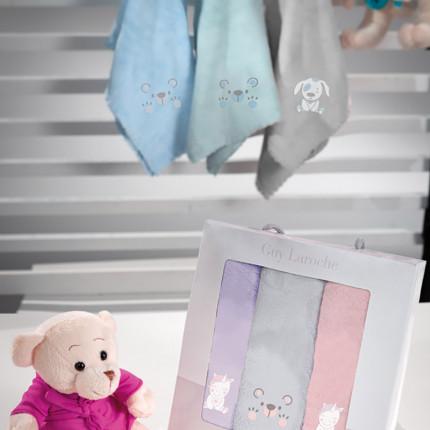 Βρεφικές Πετσέτες 35x50 (Σετ 3 Τμχ) 35x50 Guy Laroche Baby Girl