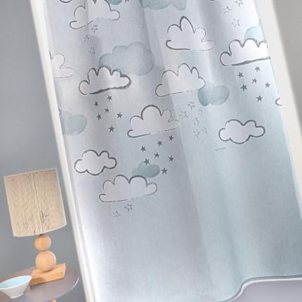 Κουρτίνα Με Τρουκς 145x270 Guy Laroche Cloudy Light Blue