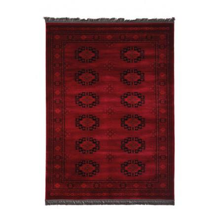 Χαλιά Κρεβατοκάμαρας (Σετ 3 Τμχ) Royal Carpet Afgan 0.67X5.00Bedset - 6871H D.Red