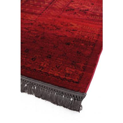 Χαλιά Κρεβατοκάμαρας (Σετ 3 Τμχ) Royal Carpet Afgan 67x500Bedset - 7504H DRed