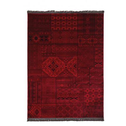 Χαλί Σαλονιού Royal Carpet Afgan 1.33X1.90 - 7675A D.Red