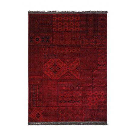 Χαλί Σαλονιού Royal Carpet Afgan 2.00X2.90 - 7675A D.Red