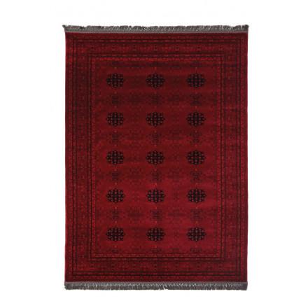 Χαλιά Κρεβατοκάμαρας (Σετ 3 Τμχ) Royal Carpet Afgan 0.67X500Bedset - 8127A D.Red