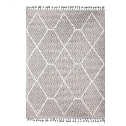 Χαλί Διαδρόμου Royal Carpet Linq 0.67X1.40 - 7436A Ivory/D.Grey