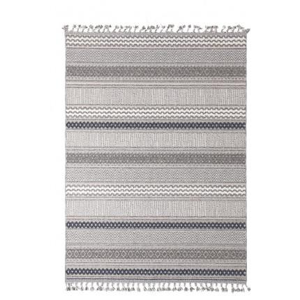 Χαλί Διαδρόμου Royal Carpet Linq 0.67X1.40 - 7438A Ivory/D.Grey