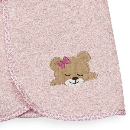 Κάπα 80X80 Dimcol Sleeping Bears Cub 14 Ροζ