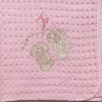 Κουβέρτα Πικέ Λίκνου 80X110 Dimcol Χαρταετος 95 Ροζ