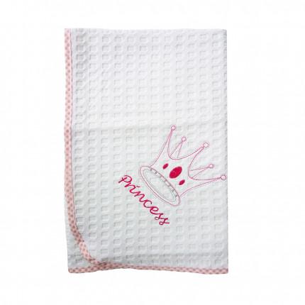 Κουβέρτα Πικέ Κούνιας 100X160 Dimcol Princess 33 Ροζ