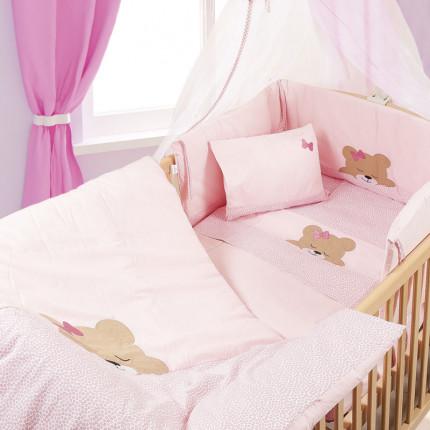 Πάπλωμα Κούνιας 100X140 Dimcol Sleeping Bears Cub 14 Ροζ